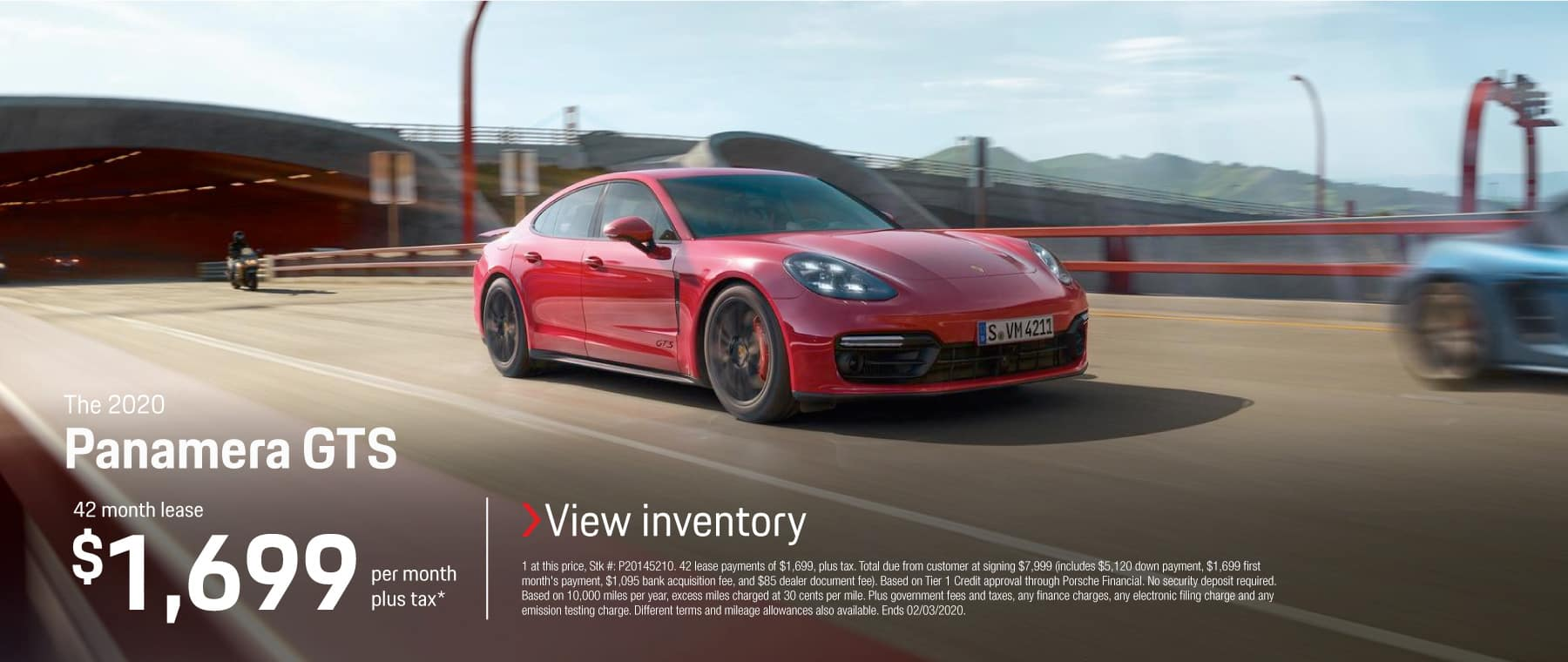 2020 PANAMERA GTS LEASE 1699 / 42 MONTHS