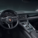 2020 Porsche Panamera interior dashboard and steering wheel