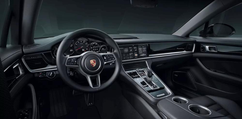 2020 Porsche Panamera interior dashboard and steering wheel