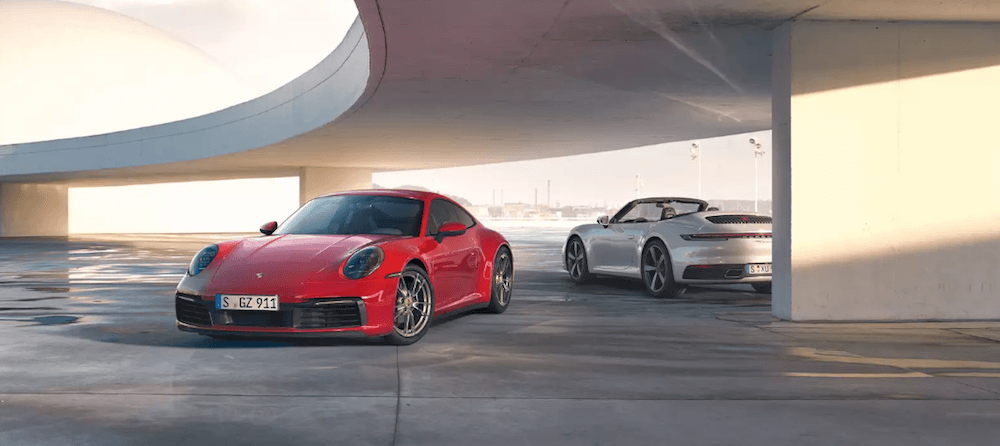 two different 2020 Porsche 911 models and Colors Banner image