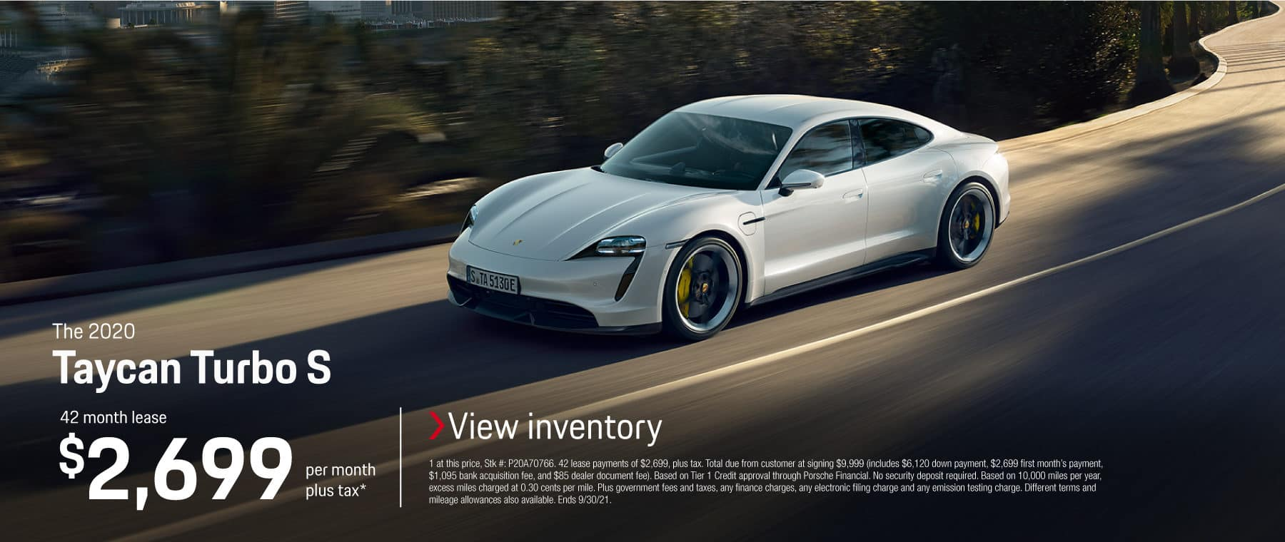 The 2020 Taycan Turbo S Lease