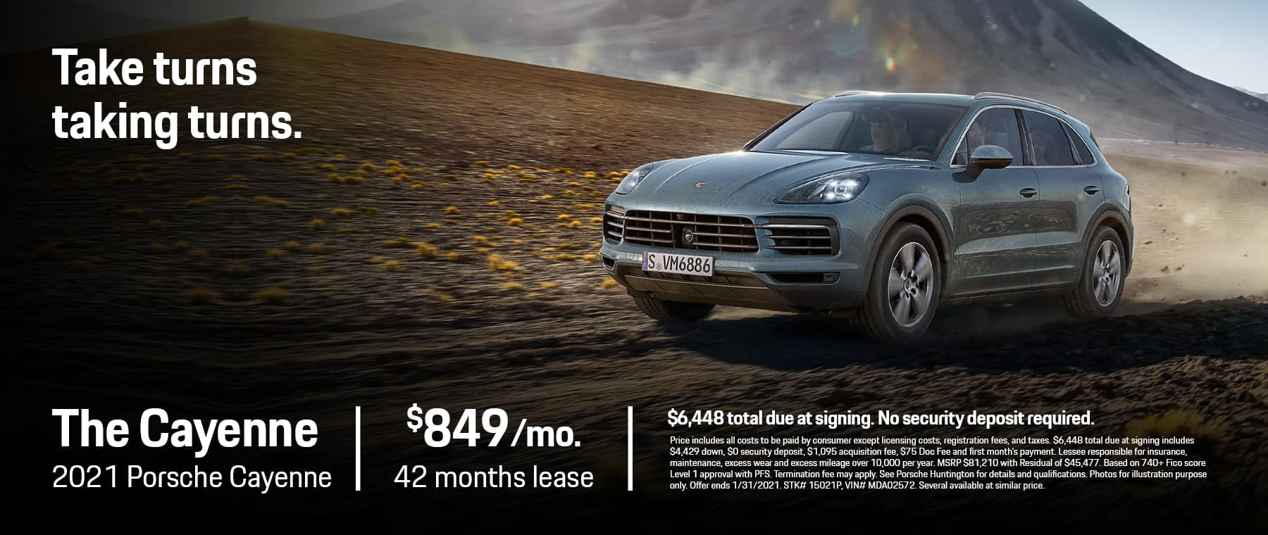 Porsche Huntington 1800×760 January 2021Cayenne
