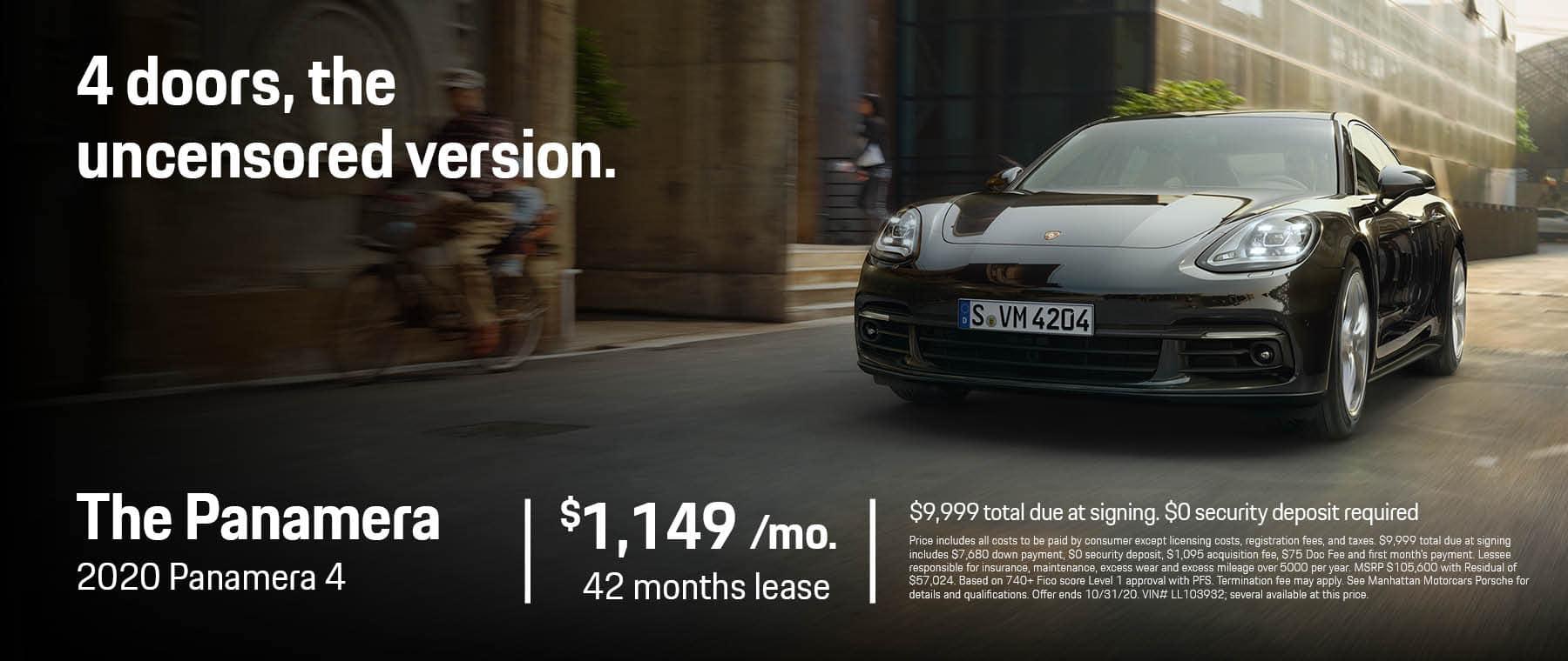Princeton Porsche October 2020 1800 x 760 Panamera 4