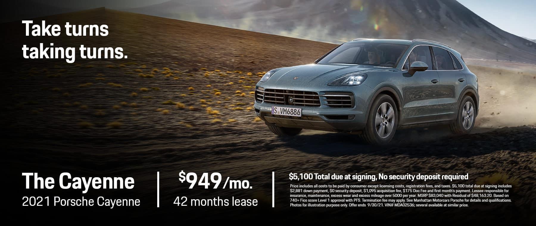 MMC Porsche Lease Specials 1800×760 August 2021 2021 Porsche Cayenne