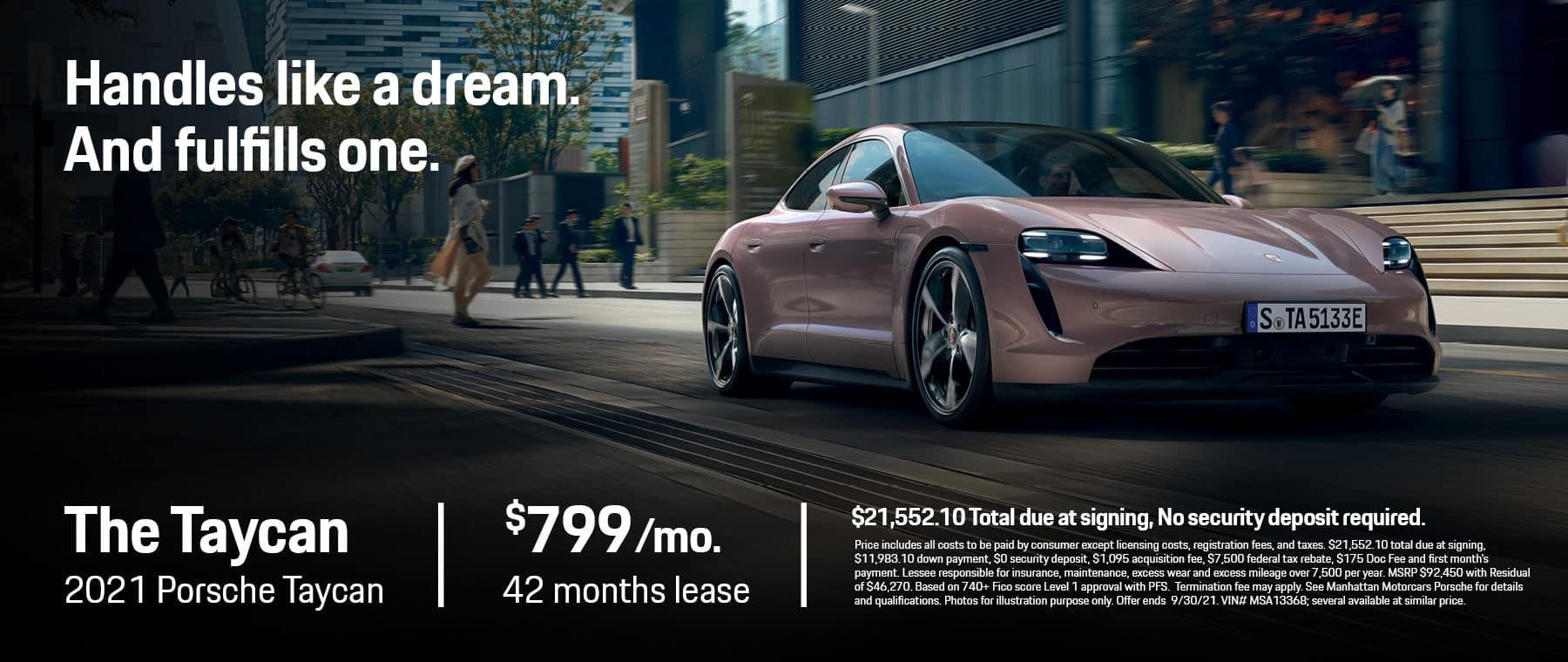 MMC Porsche Lease Specials 1800×760 August 2021 2021 Porsche Taycan