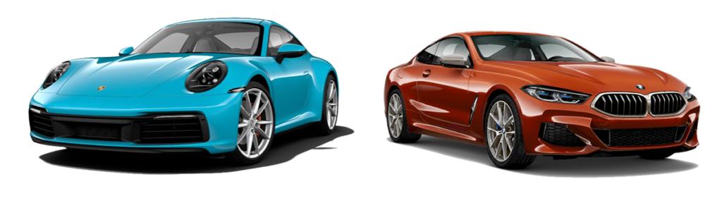 2019 porsche 911 carrera 4 vs bmw m850i xdrive comparison - porsche of milwaukee north