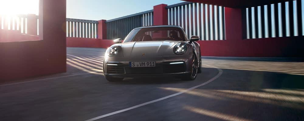 Porsche Model Taking a Turn