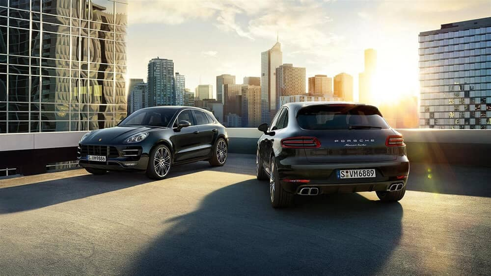 2019 Porsche Macan Turbo on a parking garage