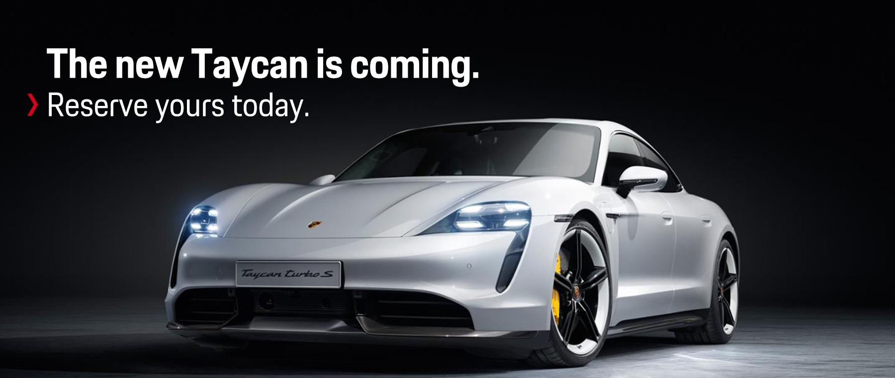 Reserve the new Porsche Taycan