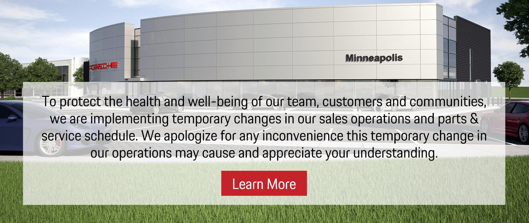 Porsche Minneapolis COVID-19 Response