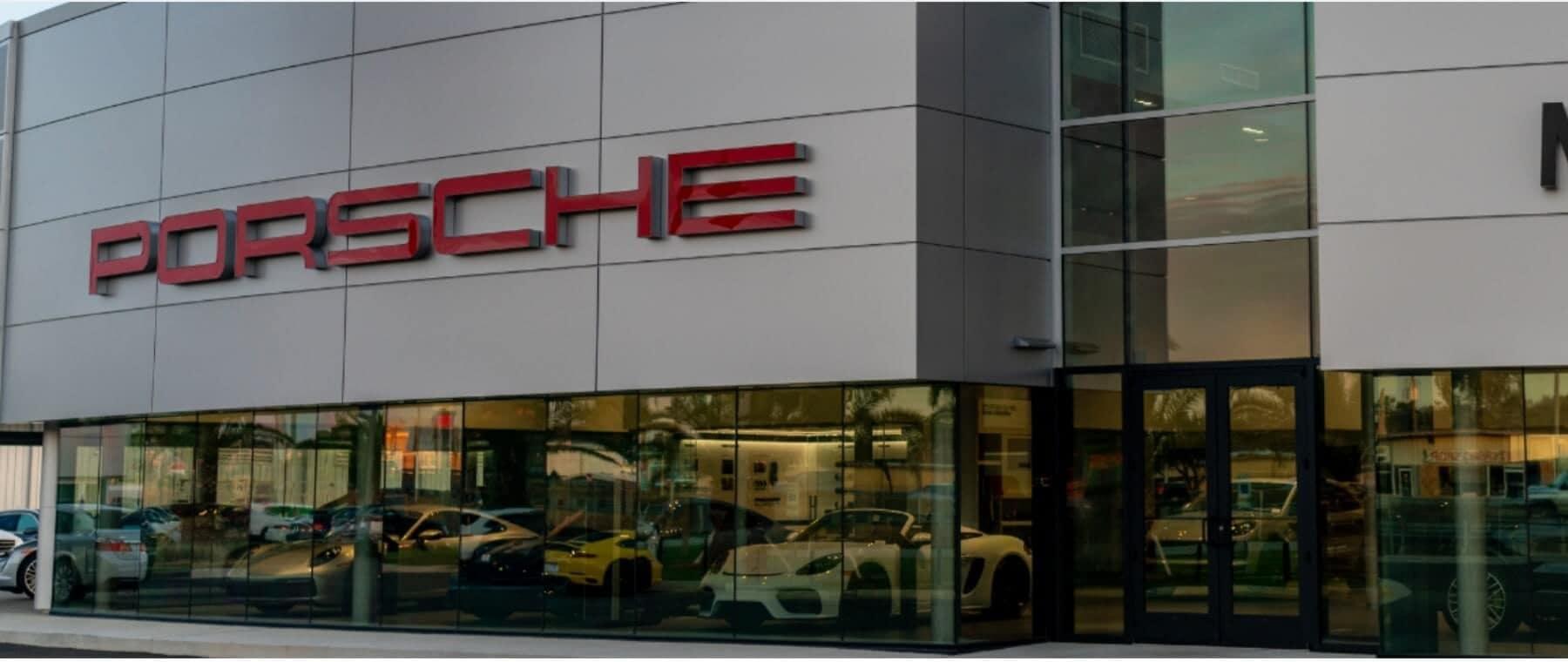 Porsche Mobile Dealership Front