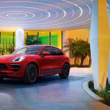 2018 Porsche Macan GTS in a showroom