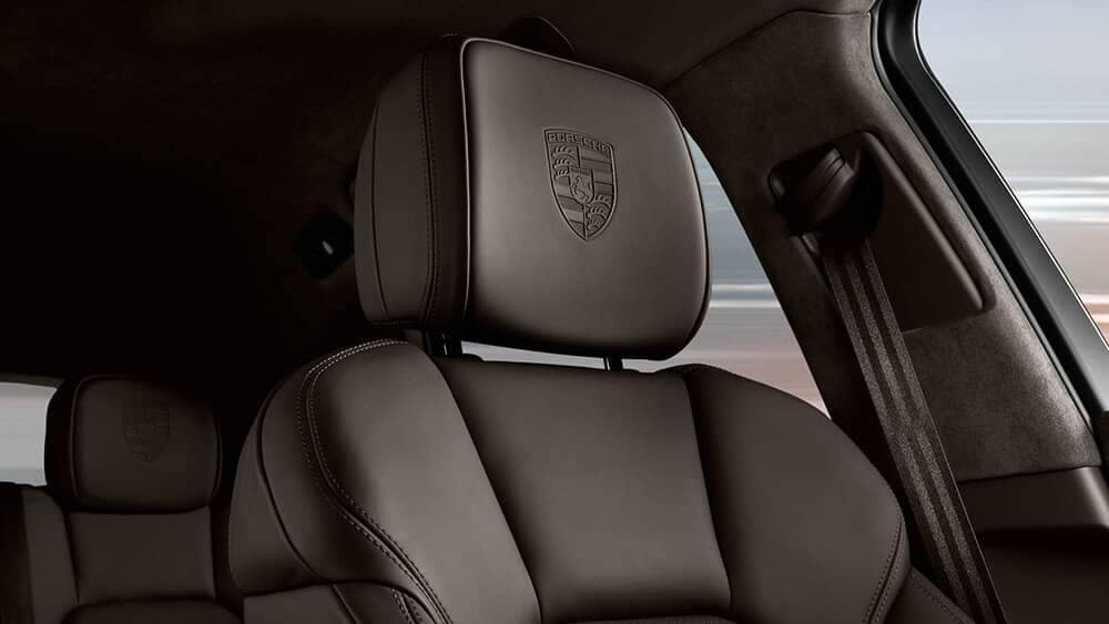 2018 Porsche Macan leather headrest