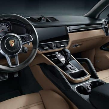 2019 Porsche Cayenne Interior Front Seating and Dashboard Features