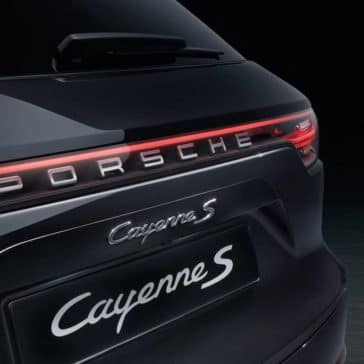 2019 Porsche Cayenne S Closeup of Rear End