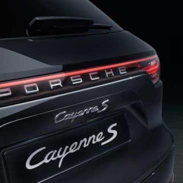 2019 Porsche Cayenne S Closeup of Rear End