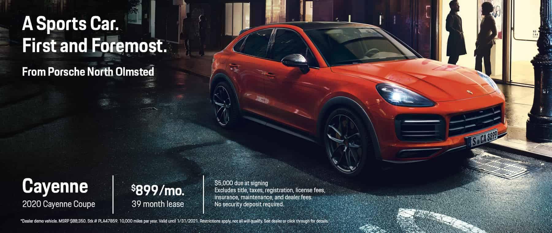 2020 Cayenne Coupe Lease $899/mo