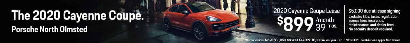 2020 Cayenne Coupe Lease $899/mo