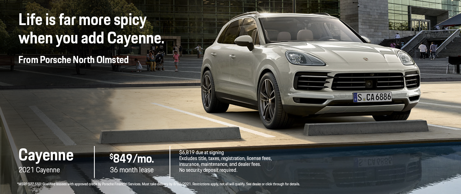 2021 Cayenne Lease Offer