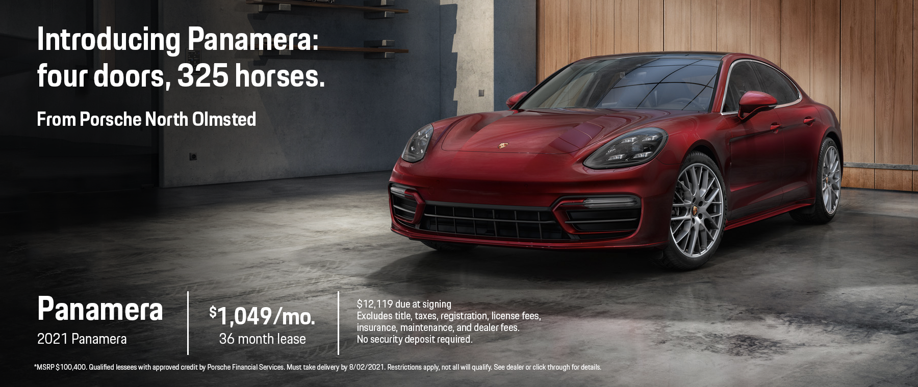 2021 Panamera Lease Special