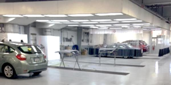 Dusty's Collision Porsche Facility View Shop