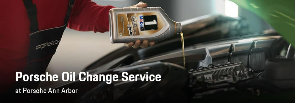 Porsche Oil Change Service in Ann Arbor, MI