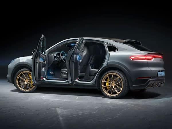 2022 Porsche Cayenne Turbo GT Rear Angle