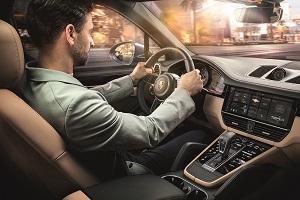Driving a Porsche Cayenne