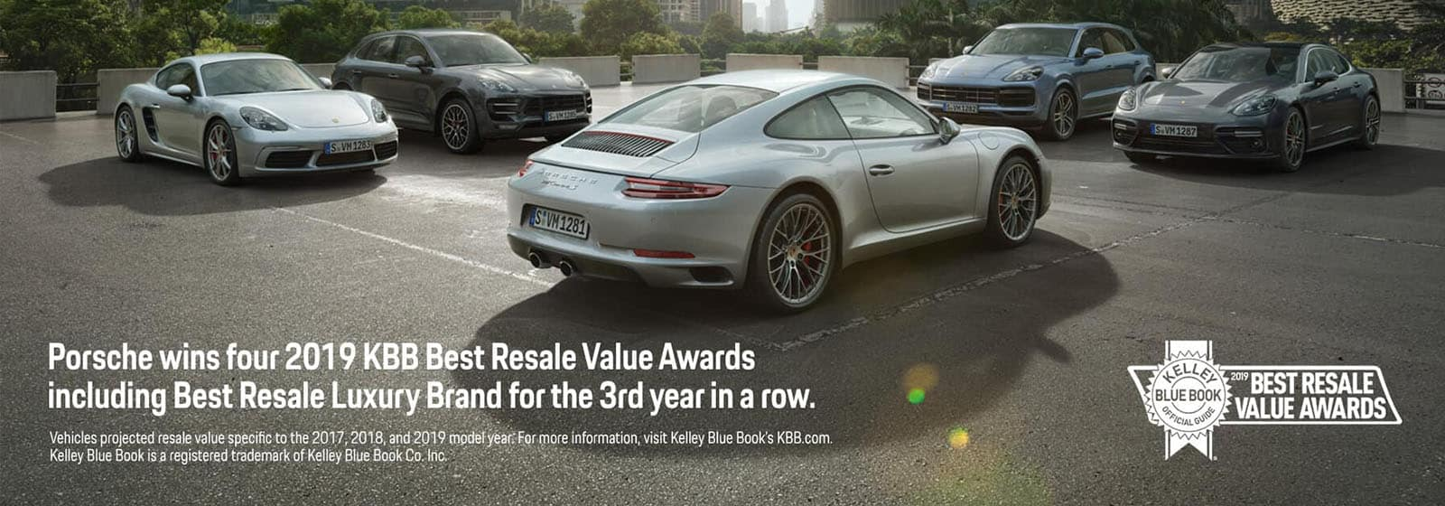 Porsche best resale value home banner