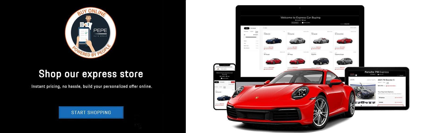 Porsche express banner