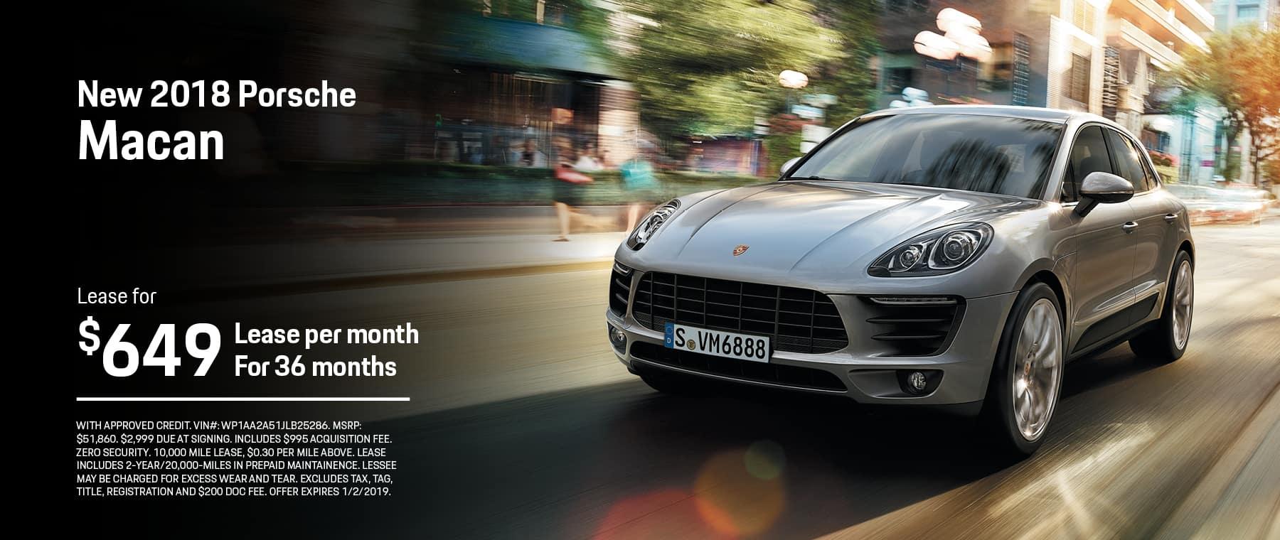 Porsche Macan Lease Deals Zero Down | Lamoureph Blog