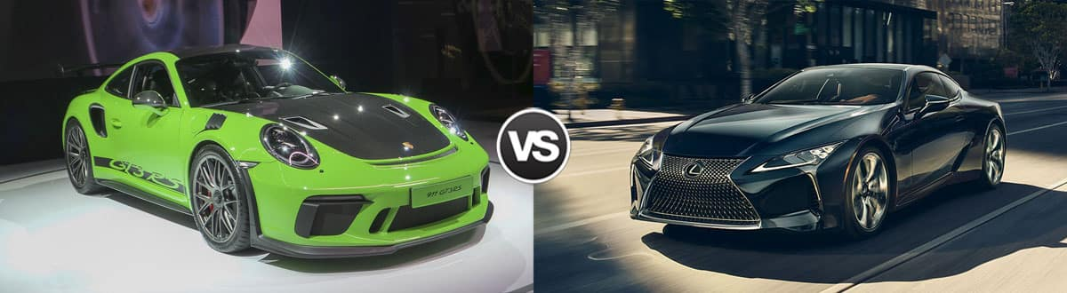 2019 Porsche 911 GT3 RS vs 2019 Lexus LC 500