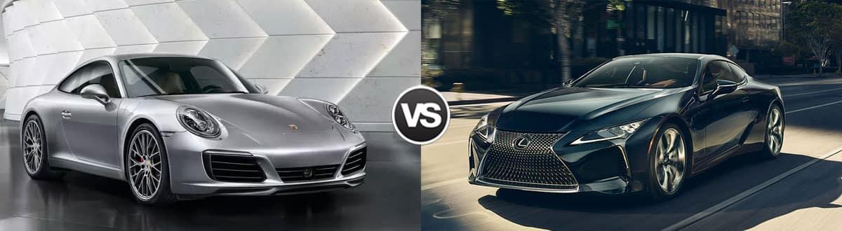 2019 Porsche 911 vs 2019 Lexus LC