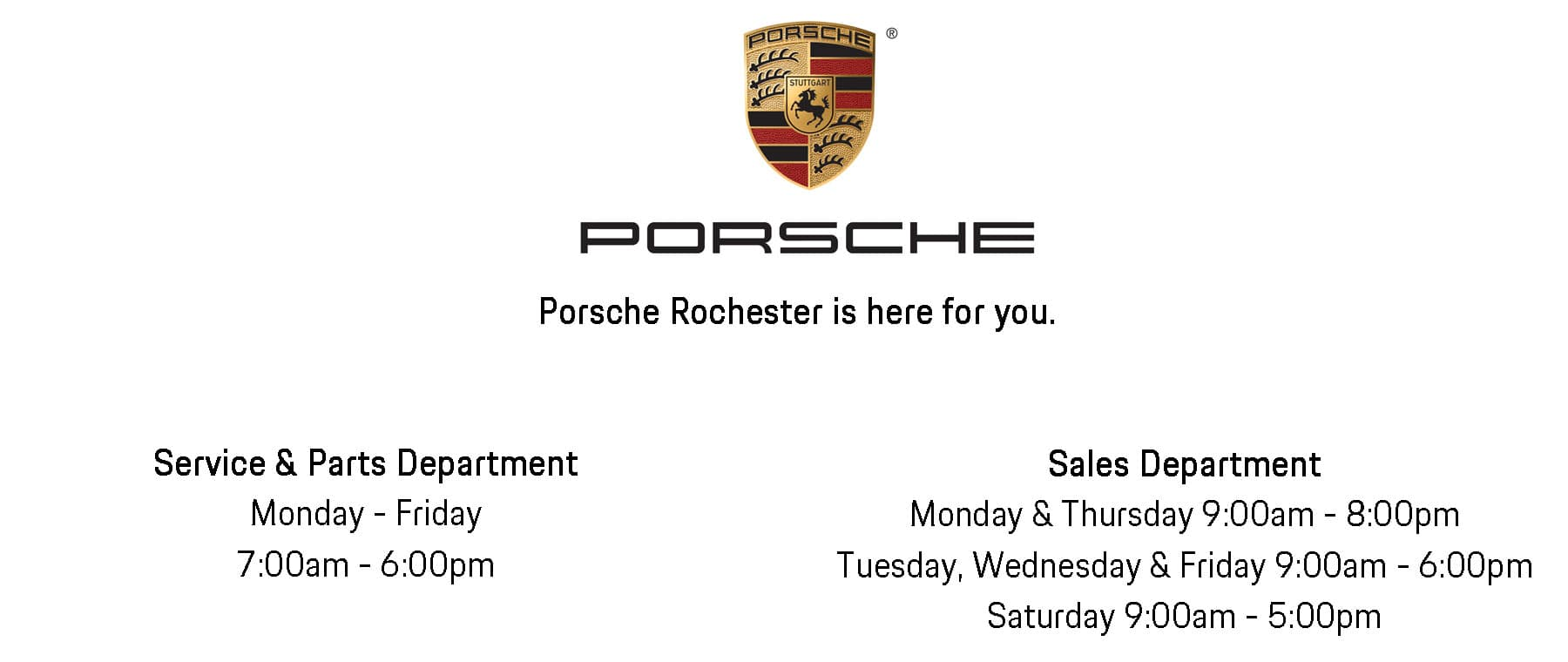 Porsche August Hours Website Slide