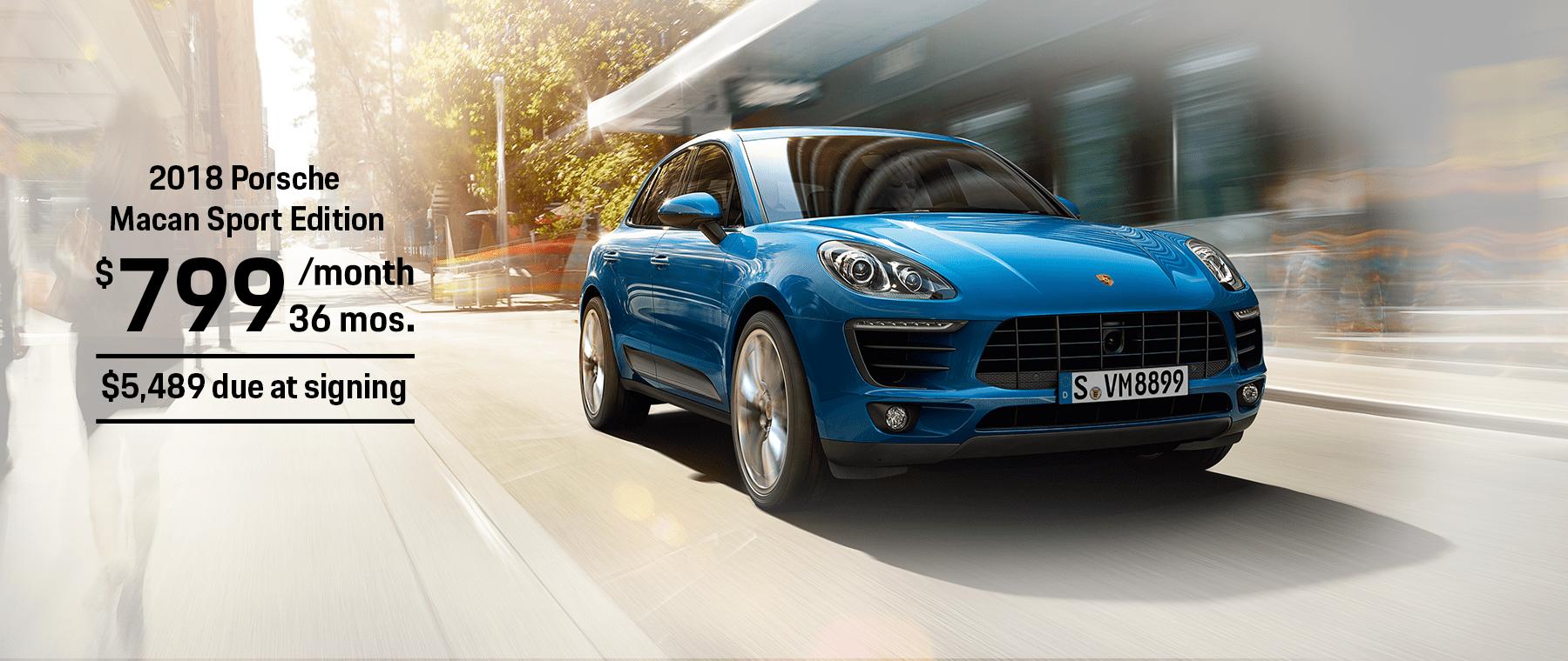 Porsche Macan Sport Edition Lease Offer