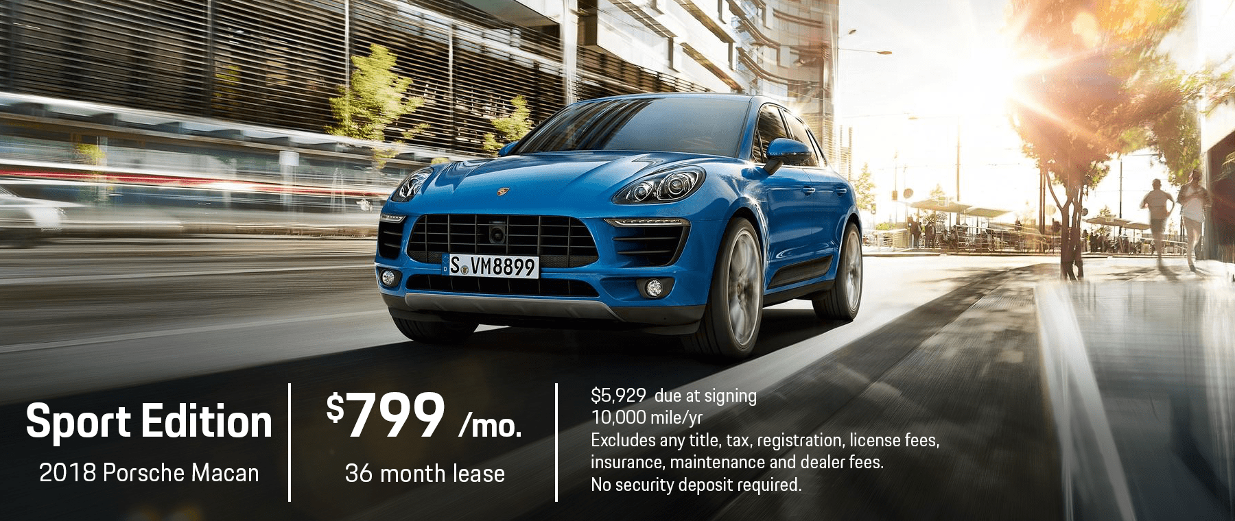 Porsche Macan Sport Edition Lease Offer