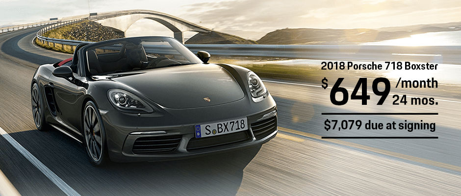 New 2018 Porsche 718 Boxster Lease Offer