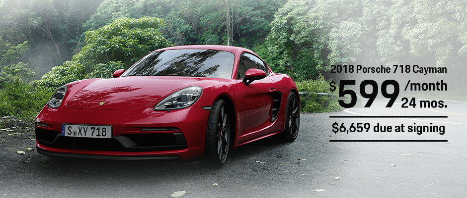 New 2018 Porsche 718 Cayman Lease Offer
