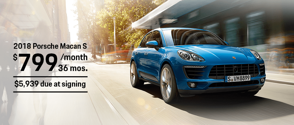 New 2018 Porsche Macan S Lease Offer