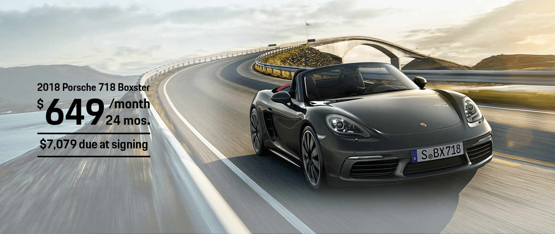 Porsche 718 Boxster Lease offer