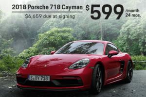 Porsche 718 Cayman Lease Offer