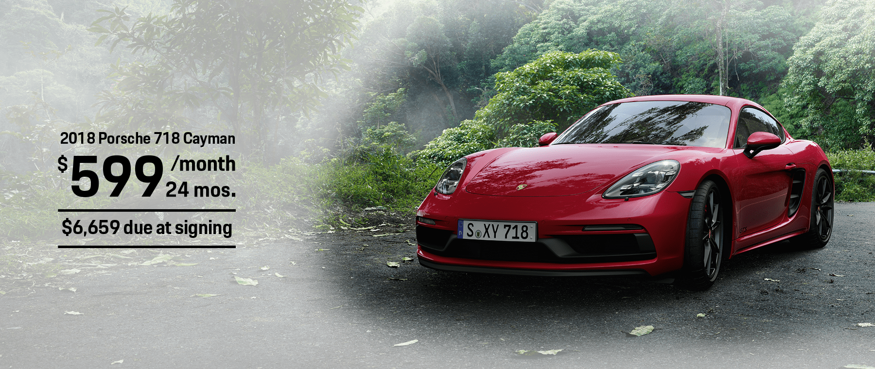 Porsche 718 Cayman Lease Offer