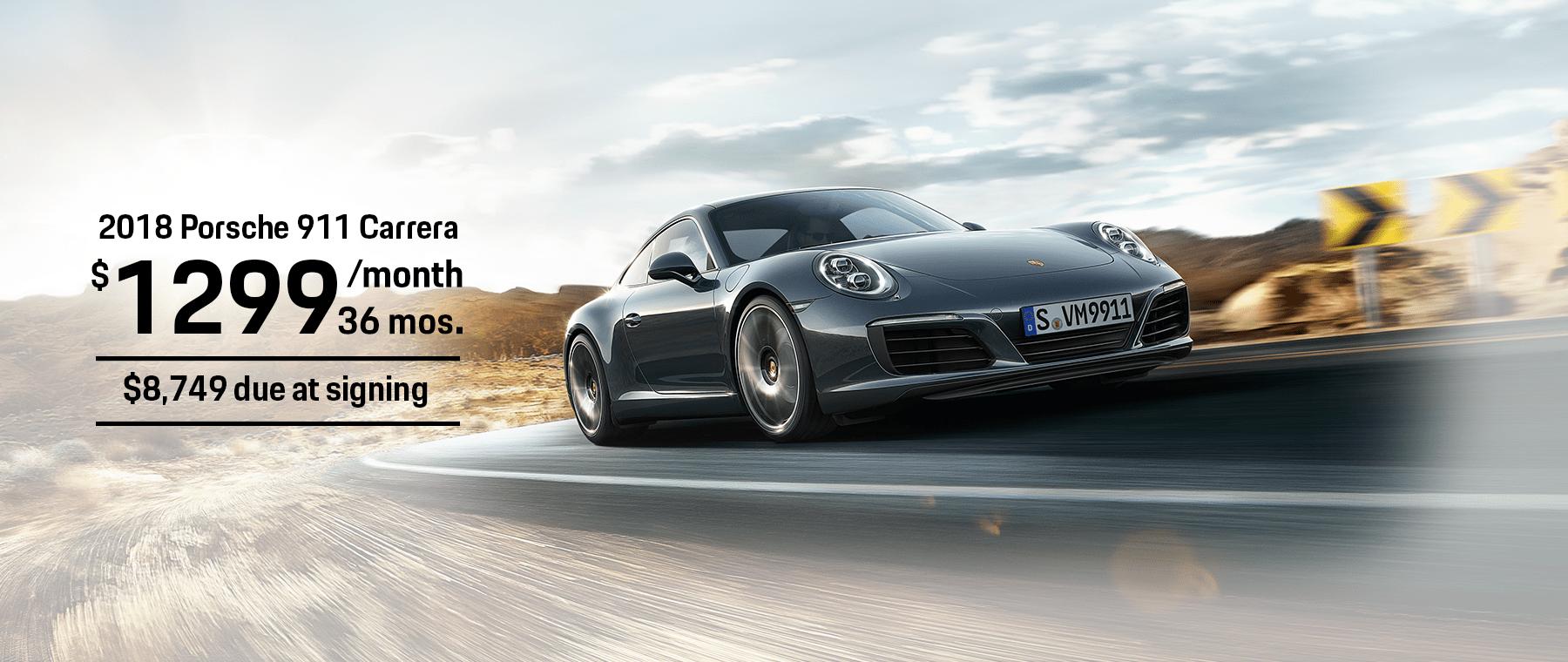 Porsche 911 Carrera Coupe Lease Offer