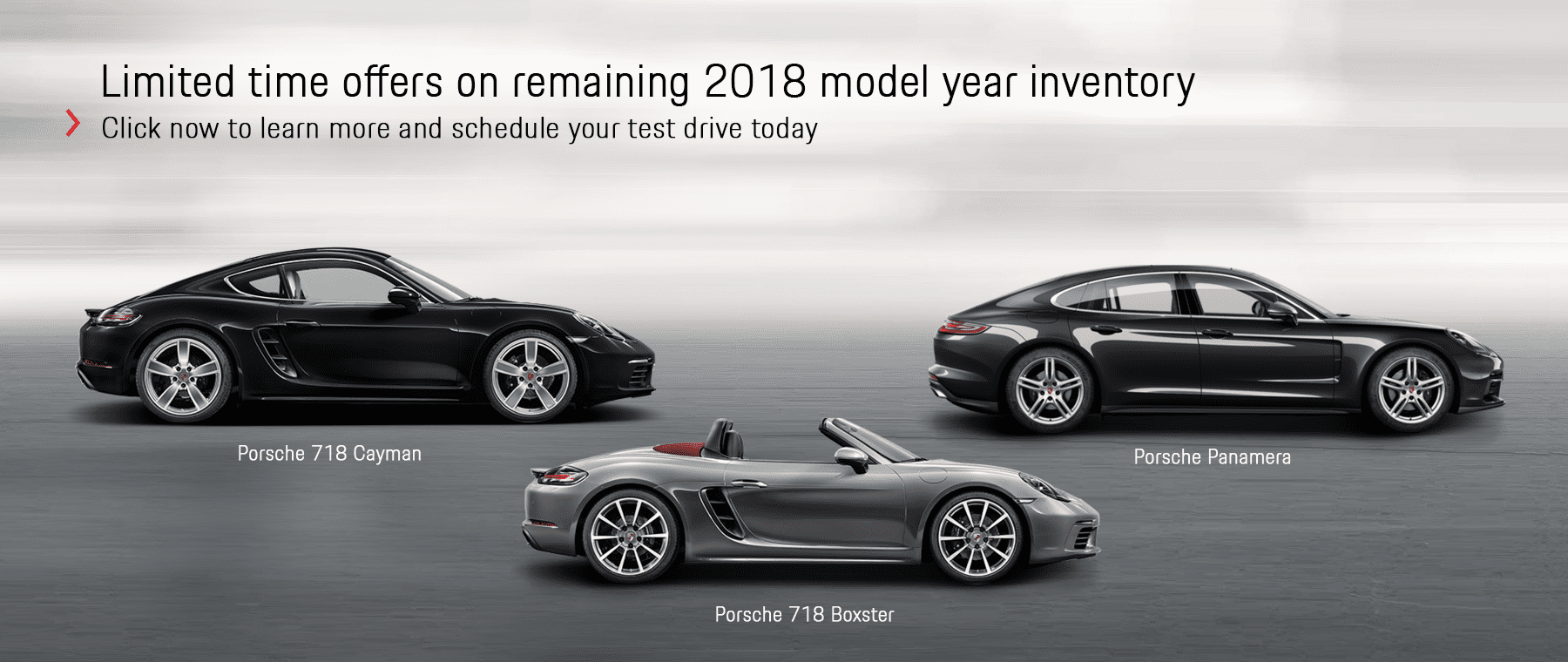 Porsche Limited Time Offers