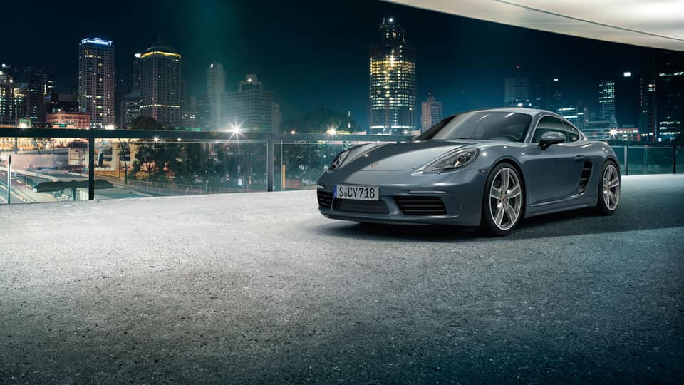 2017 Porsche 718 At Night
