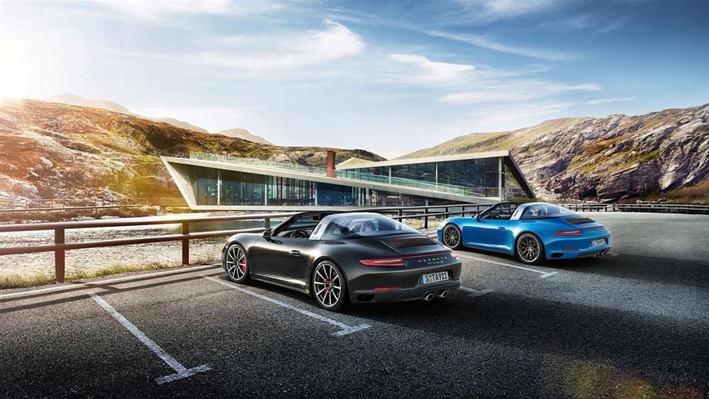2018 Porsche 911 Pair Parked