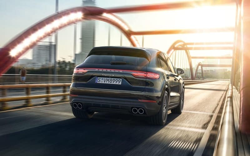 2018 Porsche Cayenne Turbo on the road