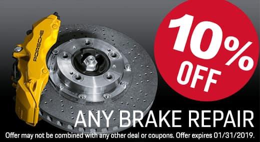 10% Off Brake Special