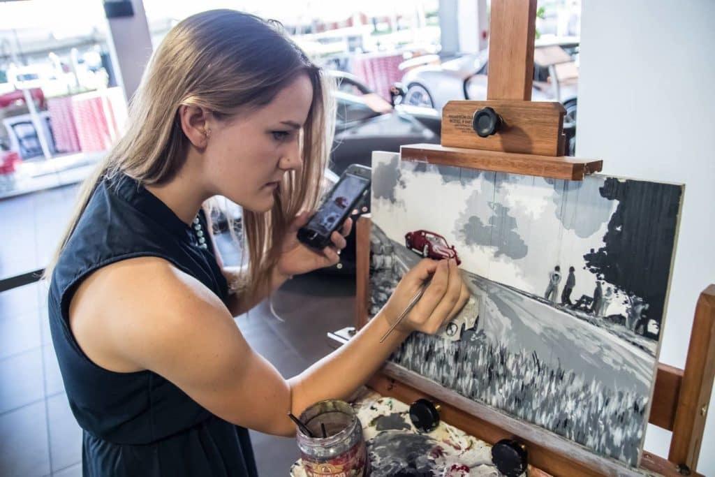 Painting Porsche