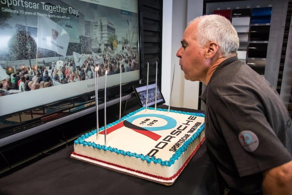 Porsche's 70th Birthday  Cake - Porsche of Tampa